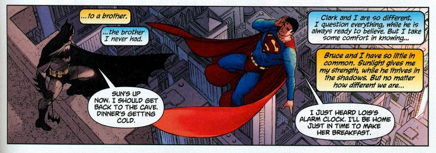 batman superman brothers comic panel