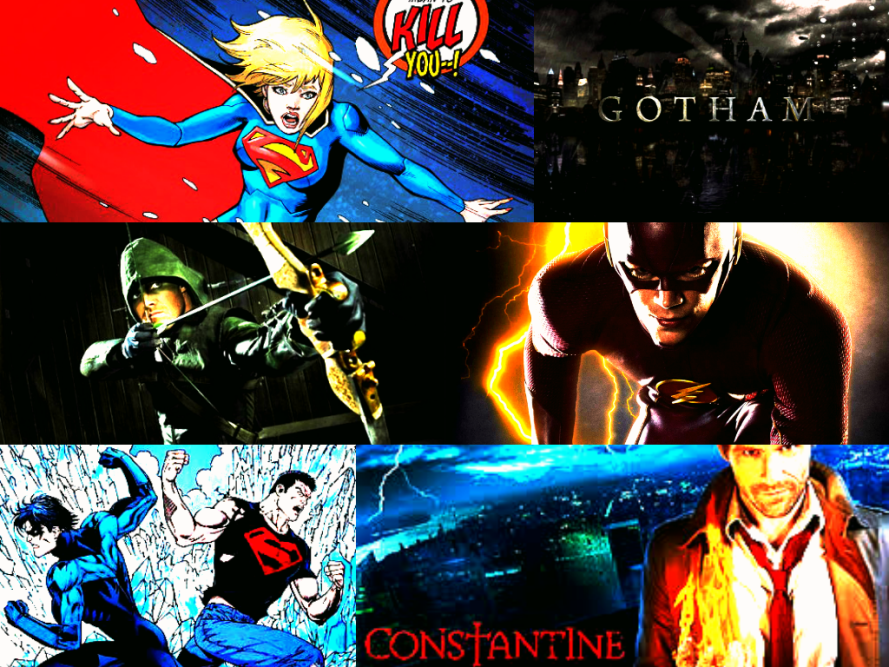 dc comic tv show collage