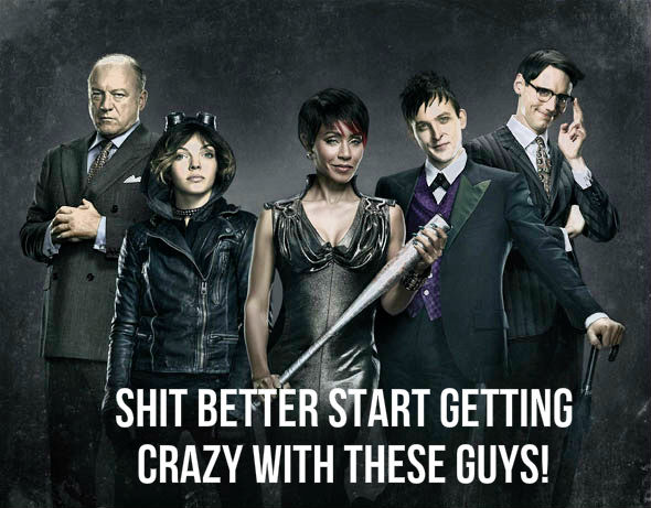 gotham batman crazy villains
