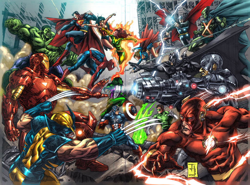 marvel vs dc superhero showdown