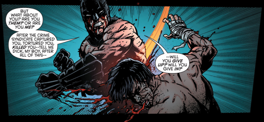 nightwing batman fighting