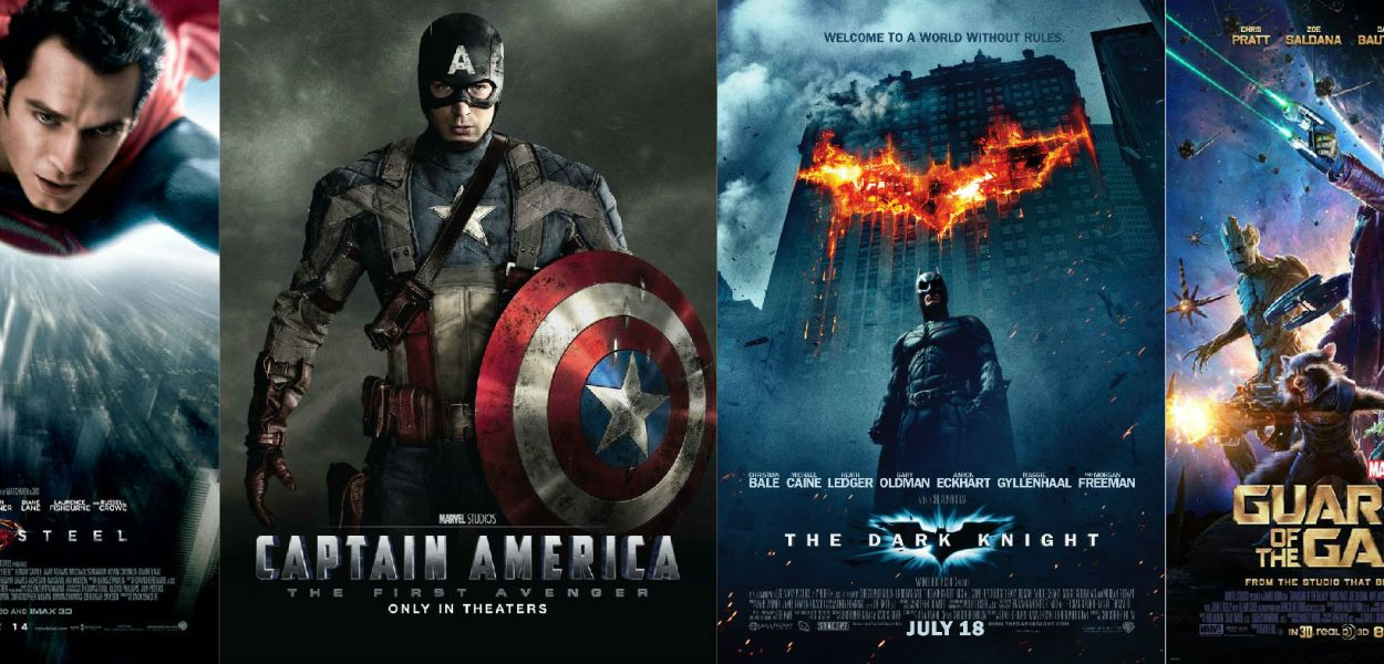 man of steel dark knight guardians of the galaxy captain america poster