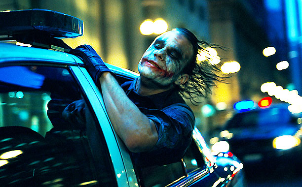 joker cop car dark knight