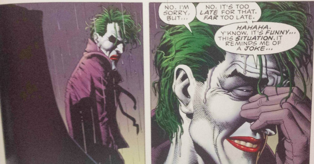 joker killing joke batman