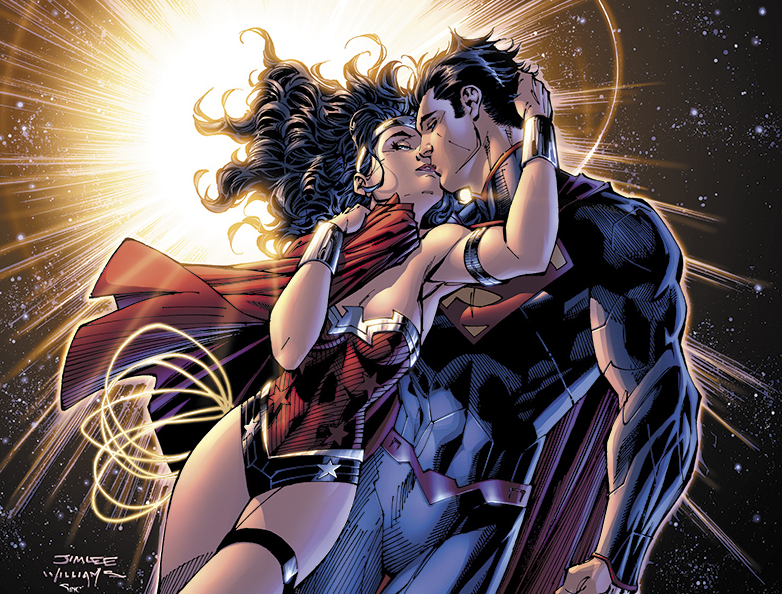 Is wonder woman dating batman or superman who will win