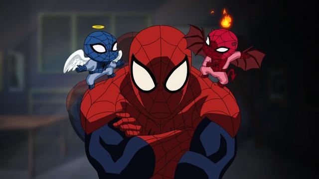 cartoon spider-man