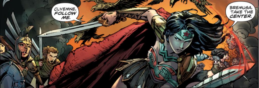 Wonder Woman 37 fighting