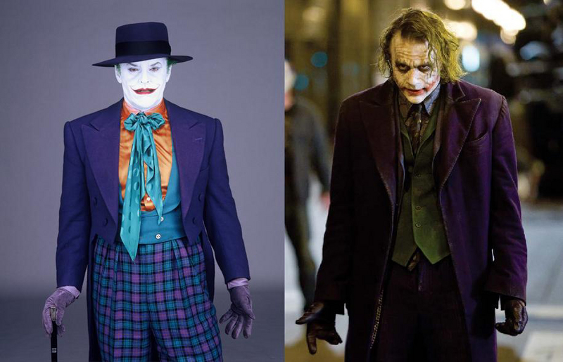 Image result for nicholson joker vs ledger