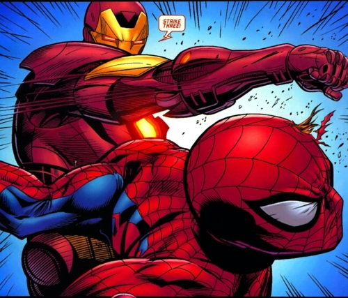 spider-man vs iron man spectacular spider-man movie