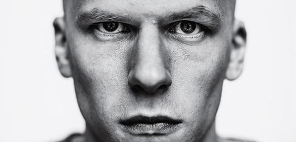 jessie eisenberg lex luthor official image two sides face