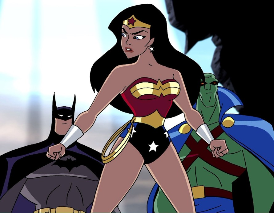 wonder woman justice league animated series