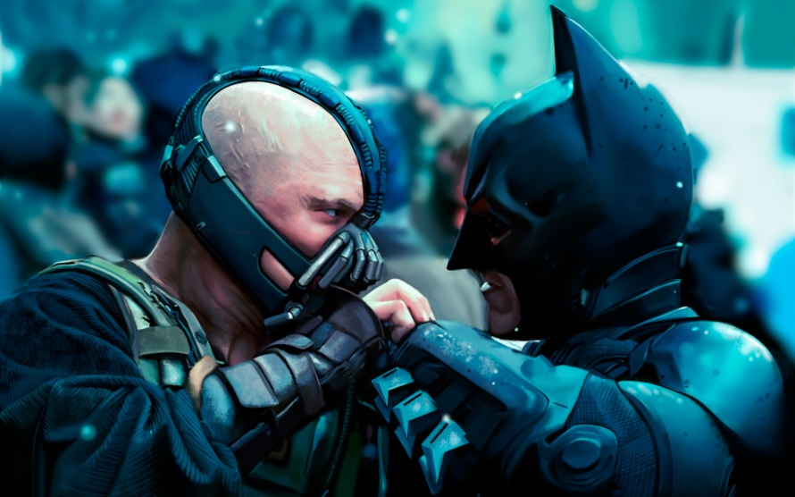 batman fighting bane dark knight rises