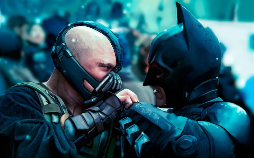 batman fighting bane dark knight rises