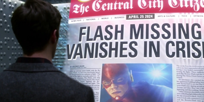 the flash episode 20 newspaper gideon justice league