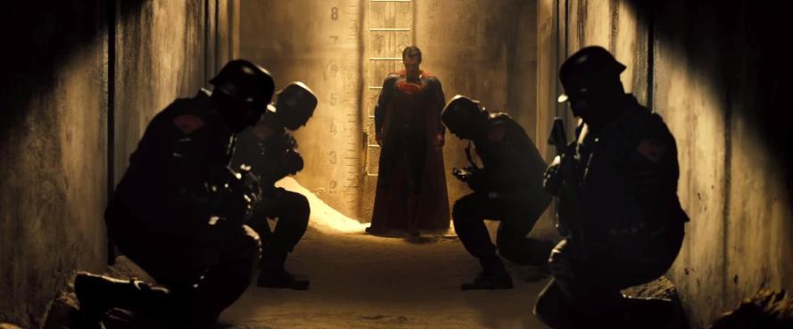 batman v superman trailer analysis soldiers kneeling