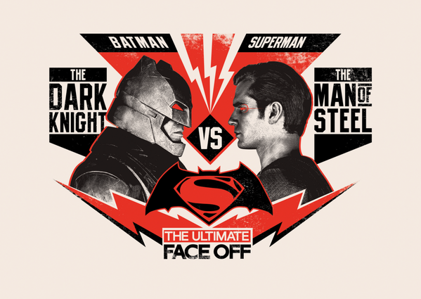 batman v superman poster art
