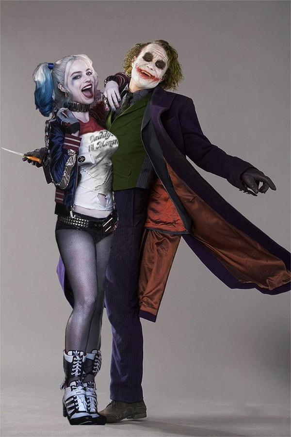 heath ledger joker and harley quinn
