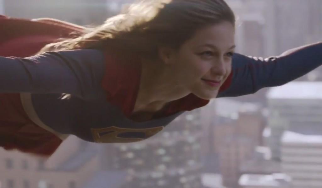 supergirl cbs flying