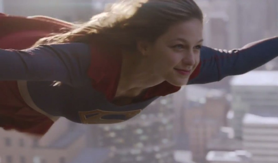 supergirl cbs flying