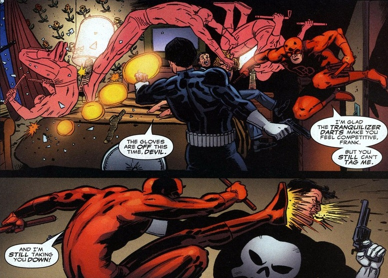 punisher fighting daredevil
