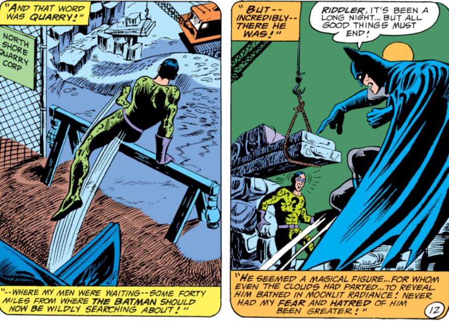 the riddler batman panel
