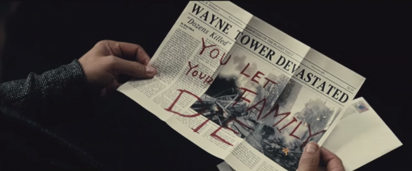 newspaper batman v superman trailer
