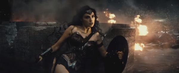 wonder woman batman v superman trailer