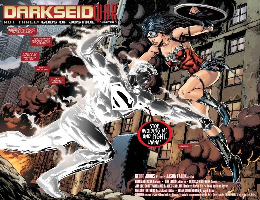 justice league 47 review superman wonder woman fight