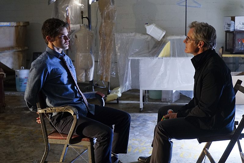 """""""Childish Things"""" -- Kara does her best to support Winn (Jeremy Jordan, left) when his father, the supervillain Toyman, (Henry Czerny, right) breaks out of prison and seeks out his son for unknown reasons, on SUPERGIRL, Monday, Jan. 18 (8:00-9:00 PM, ET/PT) on the CBS Television Network. Photo: Robert Voets/CBS ©2015 CBS Broadcasting, Inc. All Rights Reserved"""