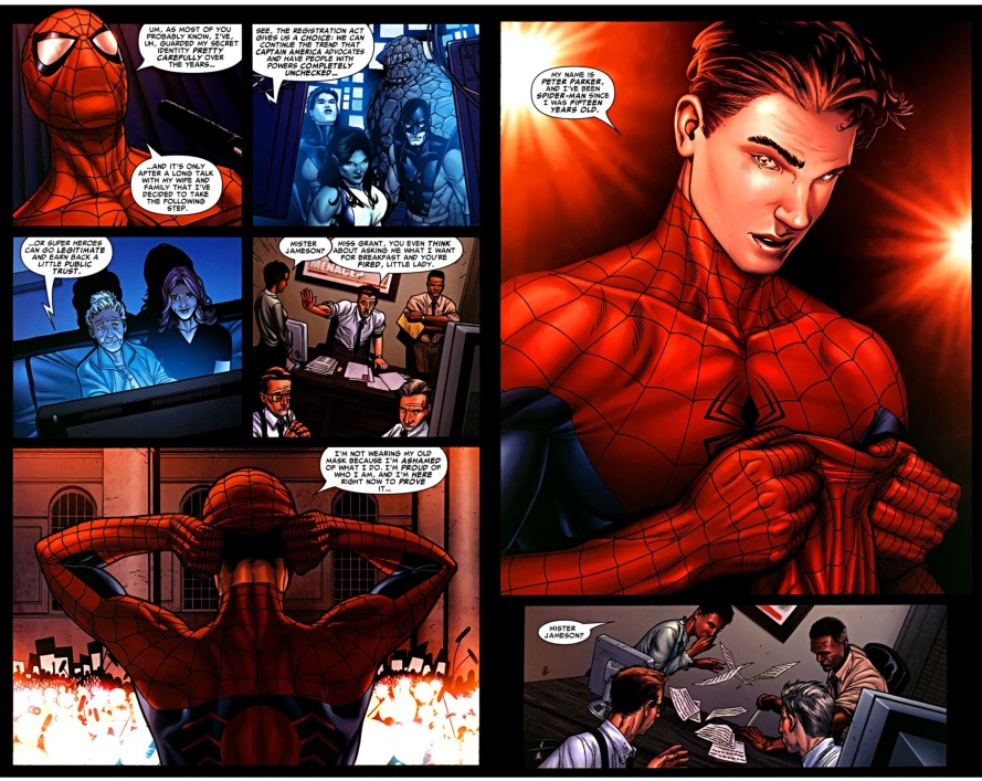 spider-man reveal civil war