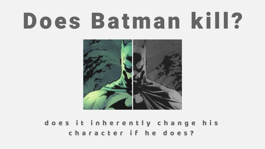 does batman kill?